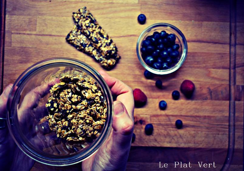 Granola e barrette con fiocchi d'avena gluten free